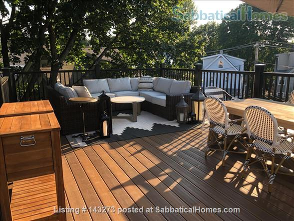 FULLY FURNISHED, SUN-DRENCHED 3 BED / 2 BATH HOME NEAR HARVARD, TUFTS, & LESLEY, with ROOFTOP DECK HAVEN Home Rental in Cambridge, Massachusetts, United States 0
