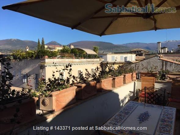 Rooftop apartment on medieval piazza Home Rental in Foligno, Umbria, Italy 8