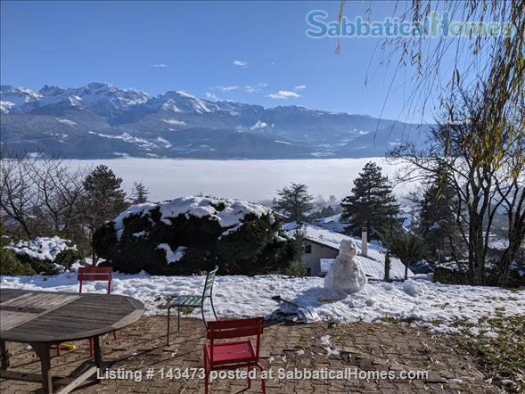 Peaceful, Spacious, Bright, 4-BedRoom, 2-BathRoom and Furnished House with Beautiful Views on the French Alps (Grenoble area) Home Exchange in Saint-Ismier, Auvergne-Rhône-Alpes, France 7