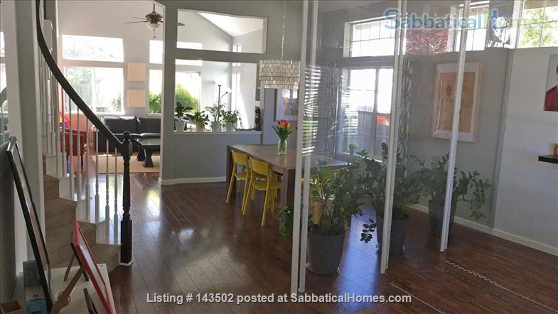 Beautiful 4 bedroom, 2 1/2 bath house with a garden, play structure, furnished  Home Rental in Davis, California, United States 0