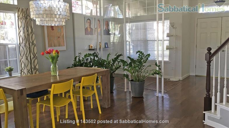 Beautiful 4 bedroom, 2 1/2 bath house with a garden, play structure, furnished  Home Rental in Davis, California, United States 2
