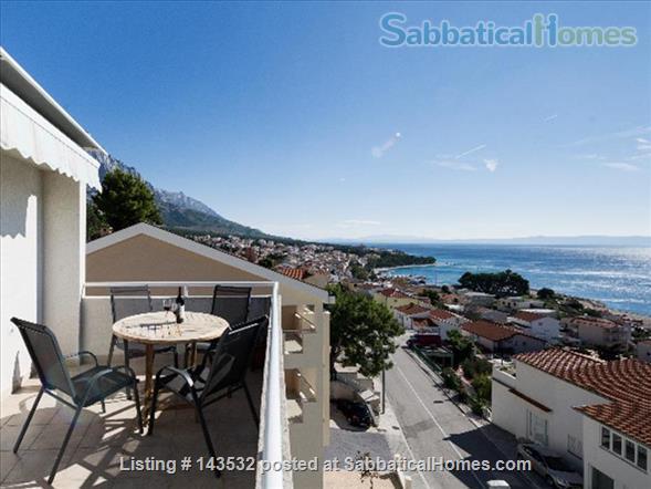 Sea view apartment in an Adriatic Coastal village.  Home Rental in Baška Voda, Splitsko-dalmatinska županija, Croatia 1