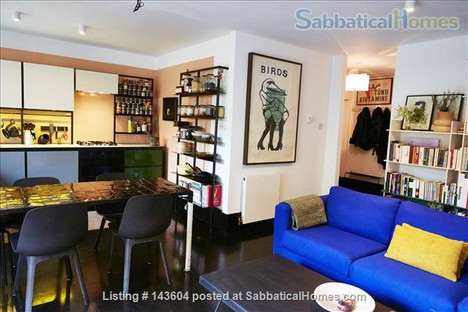 Stylish, spacious, large private backyard, east London 1-bd ground floor flat Home Rental in Greater London, England, United Kingdom 1