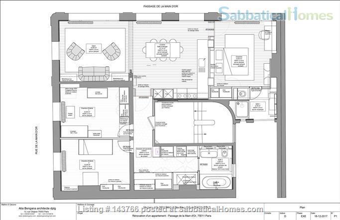 Elegant 100 sqm 3 bedrooms apartment in Bastille trendy neighborhood  Home Rental in Paris, IDF, France 9