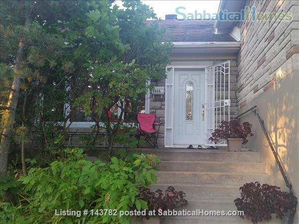 Beautiful Furnished House with 4 bedrooms and 2 bath, Utilities included,  interior parking  Home Rental in Côte Saint-Luc, Quebec, Canada 1