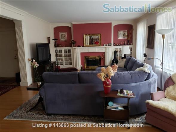 Sunny spacious 4 bed/3 bath condo with 1 parking spot at Coolidge Corner Home Rental in Brookline, Massachusetts, United States 1