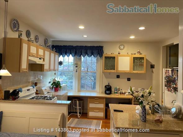 Sunny spacious 4 bed/3 bath condo with 1 parking spot at Coolidge Corner Home Rental in Brookline, Massachusetts, United States 2