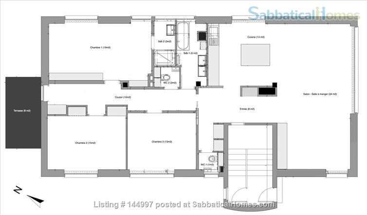 BEAUTIFUL 4/5 ROOM APARTMENT - ORANGERIE QUARTER - STRASBOURG Home Rental in Strasbourg, Grand Est, France 6