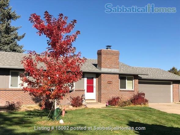 4 Br  Furnished  Home   - Near East Boulder Rec center and Bus Line Home Exchange in Boulder, Colorado, United States 1