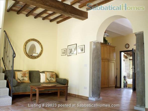 Converted Barn in Tuscany: near Florence/ Siena/ Arezzo (3 BR, 2LR, 1K,2 Bath) + Gardens with views  Home Rental in Bucine, Toscana, Italy 2