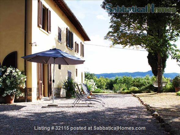 Spacious + Independent Half of 18th cent. Tuscan Villa + panoramic garden. Near Florence/ Siena/ Arezzo Home Exchange in Bucine, Toscana, Italy 1