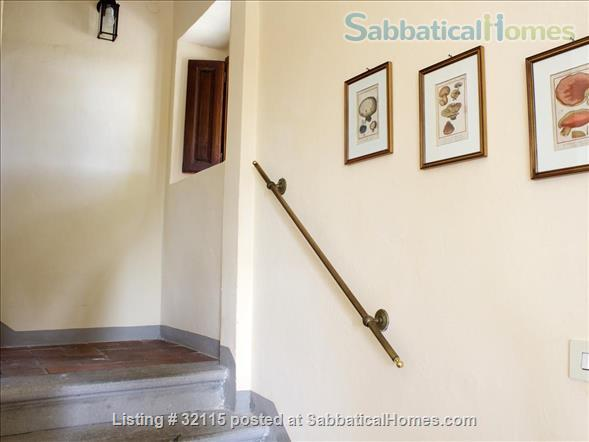Spacious + Independent Half of 18th cent. Tuscan Villa + panoramic garden. Near Florence/ Siena/ Arezzo Home Exchange in Bucine, Toscana, Italy 4