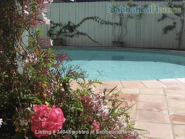 Beautiful Santa Barbara home, 1/2 block from ocean,  with pool, garden, handcrafted details,fireplaces, Home Rental in Santa Barbara, California, United States 9