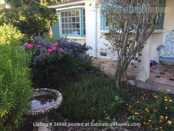 Beautiful Santa Barbara home, 1/2 block from ocean,  with pool, garden, handcrafted details,fireplaces, Home Rental in Santa Barbara, California, United States 1
