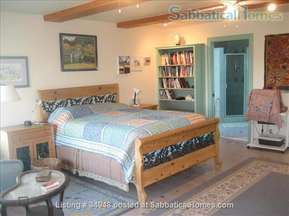 Beautiful Santa Barbara home, 1/2 block from ocean,  with pool, garden, handcrafted details,fireplaces, Home Rental in Santa Barbara, California, United States 3