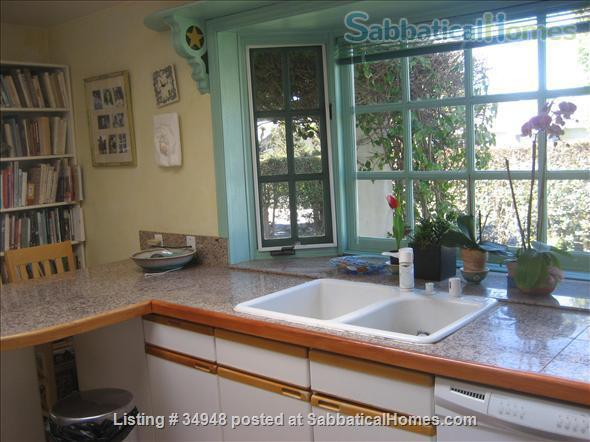 Beautiful Santa Barbara home, 1/2 block from ocean,  with pool, garden, handcrafted details,fireplaces, Home Rental in Santa Barbara, California, United States 4