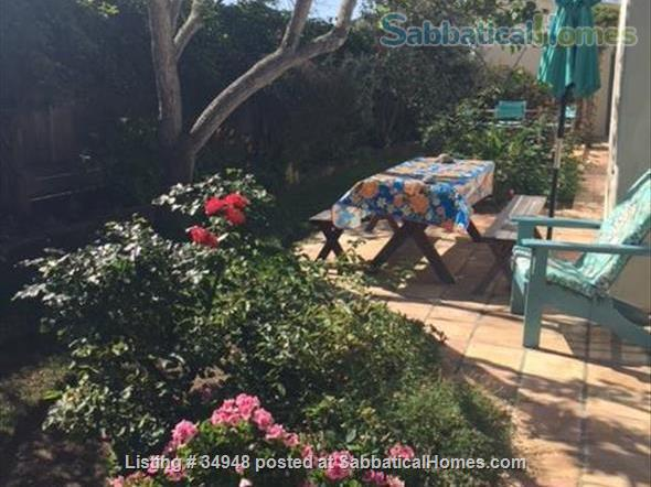 Beautiful Santa Barbara home, 1/2 block from ocean,  with pool, garden, handcrafted details,fireplaces, Home Rental in Santa Barbara, California, United States 7
