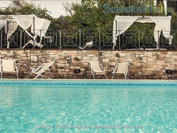 The Charming Villa Nuba  villas-apartments rental in Perugia close University-swimming pool with salt water,jacuzzi,fire places,playground,herb garden,parking,wifi,barbecue,private SPA Home Rental in Perugia, Umbria, Italy 2