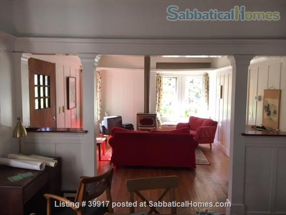Beautiful little house surrounded by gardens in Central Berkeley! Walk to BART, UC Berkeley, library. Huge yard, kids and pets ok.  Home Rental in Berkeley, California, United States 1