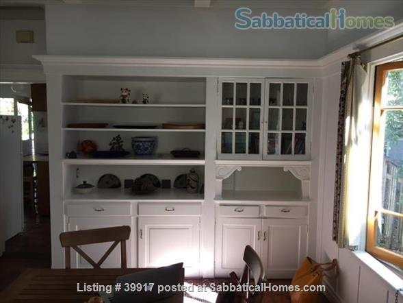 Beautiful little house surrounded by gardens in Central Berkeley! Walk to BART, UC Berkeley, library. Huge yard, kids and pets ok.  Home Rental in Berkeley, California, United States 2