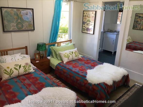 Beautiful little house surrounded by gardens in Central Berkeley! Walk to BART, UC Berkeley, library. Huge yard, kids and pets ok.  Home Rental in Berkeley, California, United States 5