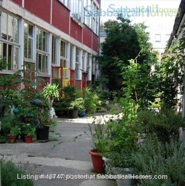 Spacious (54 sq. meters) Loft on a Private Courtyard Home Rental in Paris, IDF, France 1