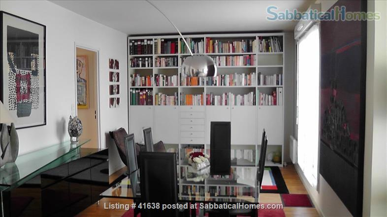 Luxury apartment located across from the park and on the canal - quiet location away from the crowds; perfect for work and study. Home Rental in Paris, IDF, France 1