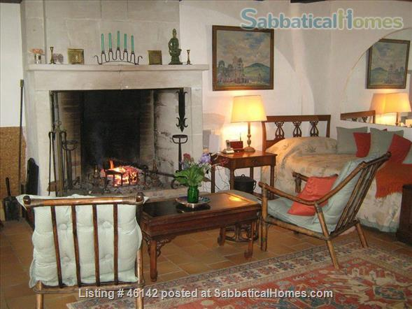 Haven in Touraine —  Charming restored country cottage with large fireplace and apparent beams, surrounded by park-like garden, fields and forest.  Home Rental in Bossay-sur-Claise, Centre-Val de Loire, France 2