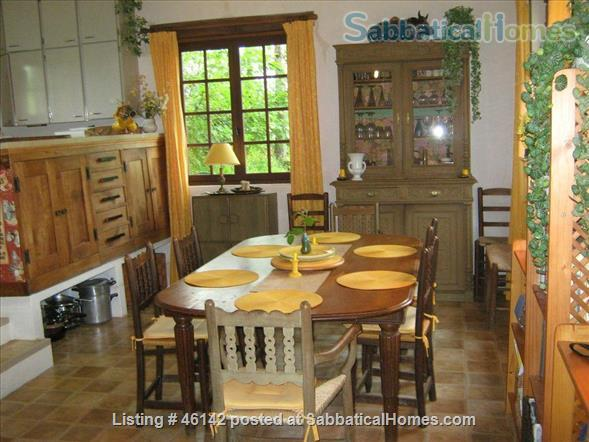 Haven in Touraine —  Charming restored country cottage with large fireplace and apparent beams, surrounded by park-like garden, fields and forest.  Home Rental in Bossay-sur-Claise, Centre-Val de Loire, France 4