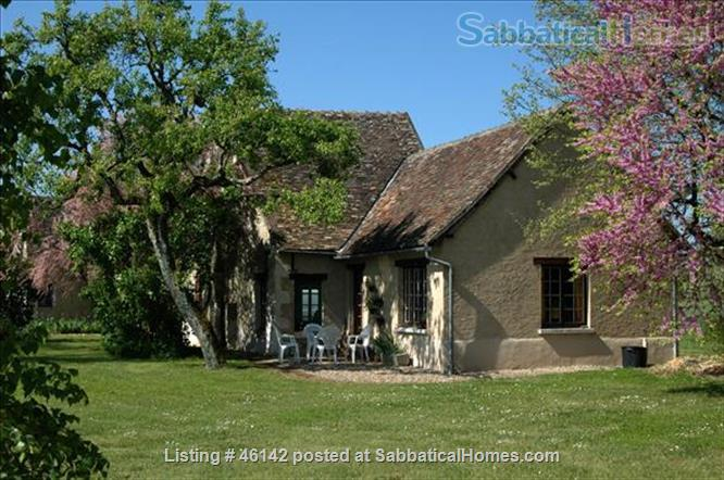 Haven in Touraine —  Charming restored country cottage with large fireplace and apparent beams, surrounded by park-like garden, fields and forest.  Home Rental in Bossay-sur-Claise, Centre-Val de Loire, France 5
