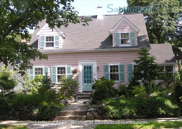3BR furnished home in Newton on quiet street, next to park - walk to lake Home Rental in Newton, Massachusetts, United States 1