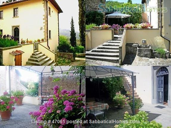 Two lovely Tuscan apartments with patio and garden in villa close to Florence in Chianti Valdarno Home Rental in Città Metropolitana di Firenze, Toscana, Italy 9