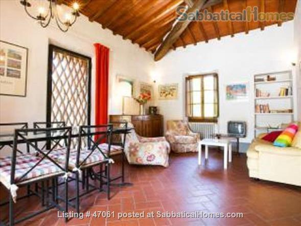 Two lovely Tuscan apartments with patio and garden in villa close to Florence in Chianti Valdarno Home Rental in Città Metropolitana di Firenze, Toscana, Italy 1