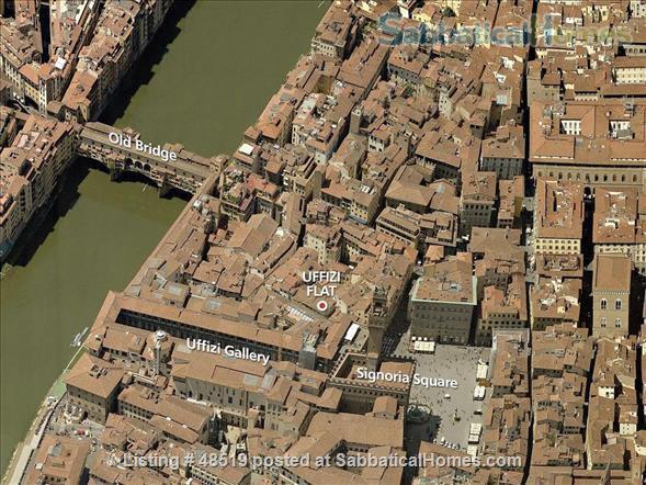 UFFIZIFLAT@GALLERY ACROSS STREET! 1BD COZY  *WIFI *A/C  *LIFT @CHARM of FLORENCE INSIDE .  Home Rental in Firenze, Toscana, Italy 9