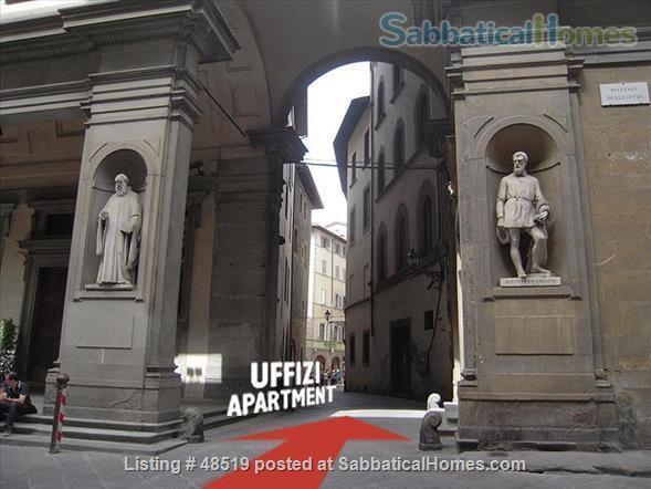 UFFIZIFLAT@GALLERY ACROSS STREET! 1BD COZY  *WIFI *A/C  *LIFT @CHARM of FLORENCE INSIDE .  Home Rental in Firenze, Toscana, Italy 8