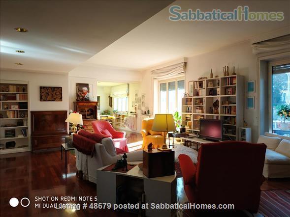 Professor's spacious 3 bedrooms apartment in Rome Home Rental in Roma, Lazio, Italy 1