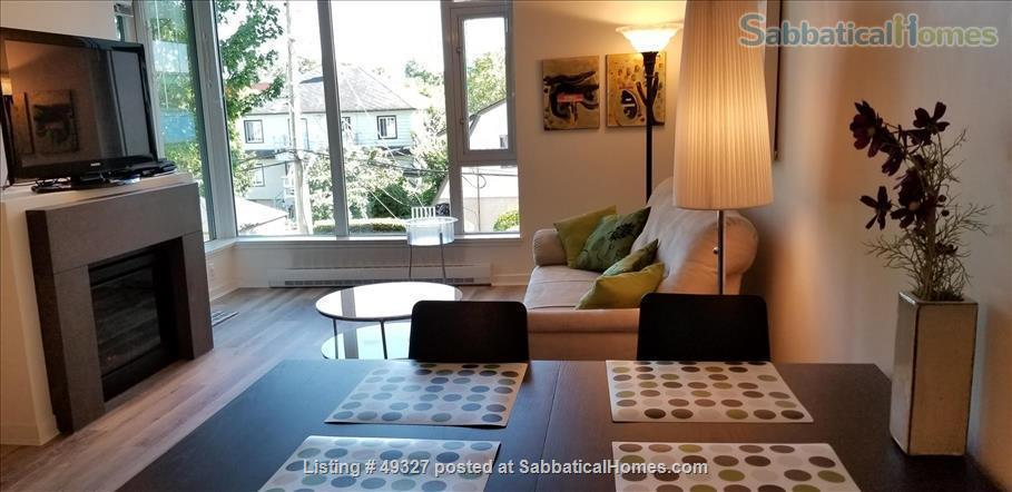 KITS FURNISHED CONDO 2 BED/2 BATH + OFFICE--family-friendly, small pets OK Home Rental in Vancouver, British Columbia, Canada 1