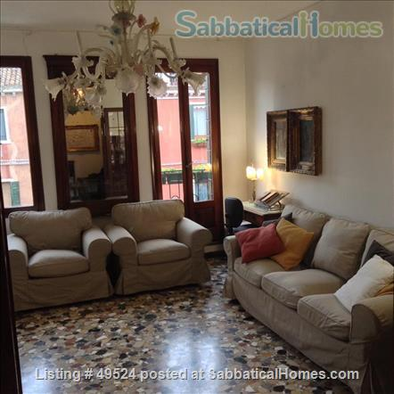 Sunny 2-3 bedroom apartment overlooking canal between Accademia and Guggenheim Home Rental in Venice, Veneto, Italy 0