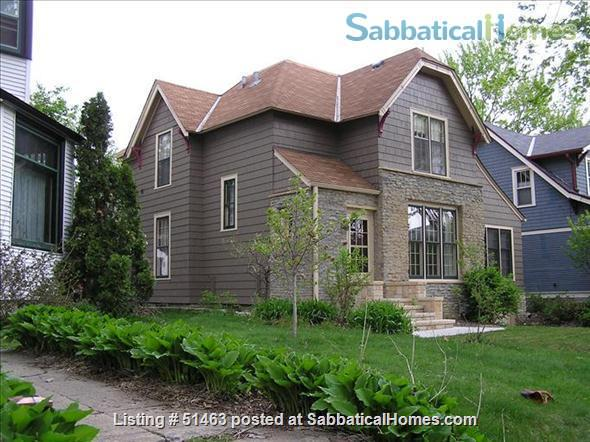 Beautiful Home in Safe Summit Hill, Saint Paul: Furnished 2-BR Sabbatical House Available, with huge library/study Home Rental in St Paul, Minnesota, United States 0
