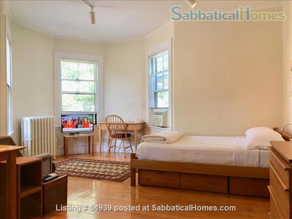 WALK TO HARVARD -  Spacious studio apartment with separate kitchen, and private entry. Exceptionally clean and conveniently located.  In-unit laundry, all utilities, internet included. Home Rental in Cambridge, Massachusetts, United States 1