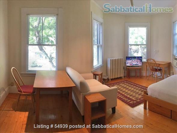 WALK TO HARVARD -  Spacious studio apartment with separate kitchen, and private entry. Exceptionally clean and conveniently located.  In-unit laundry, all utilities, internet included. Home Rental in Cambridge, Massachusetts, United States 0