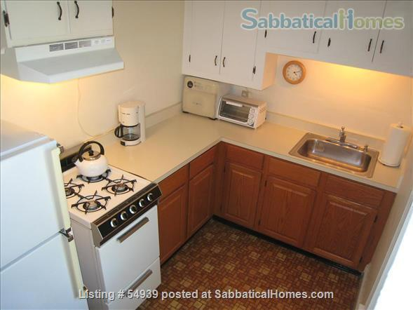 WALK TO HARVARD -  Spacious studio apartment with separate kitchen, and private entry. Exceptionally clean and conveniently located.  In-unit laundry, all utilities, internet included. Home Rental in Cambridge, Massachusetts, United States 4