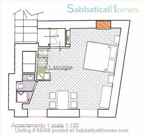 Gorgeous studio with Colisseum view (2-3pax)  Home Rental in Rome, Lazio, Italy 9