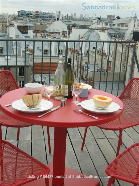 Unique apt with deck & spectacular views in heart of Paris Home Rental in Paris, Île-de-France, France 9