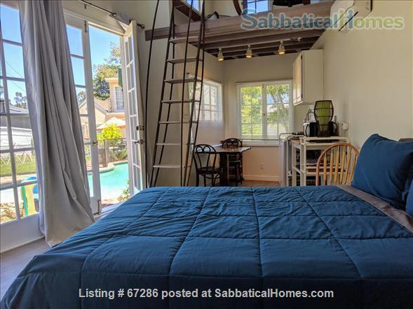 PRIVATE NEWLY REMODELED with A/C and W/D:  QUIET,  Pool House, walk to IPAM and UCLA, Century City and Bev Hills Home Rental in Los Angeles, California, United States 2