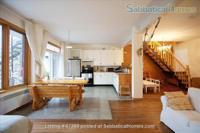 Beautiful 4 bedroom Mile End Montreal house with sunny backyard next to park Home Rental in Montréal, Québec, Canada 1