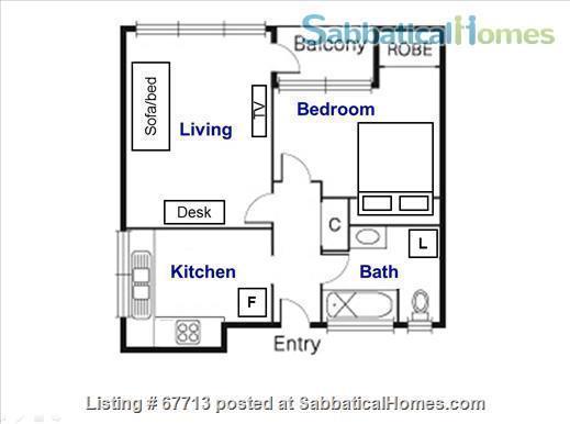 East Melb 1bed apt - Walk to Melb U and CBD  Home Rental in East Melbourne, VIC, Australia 1