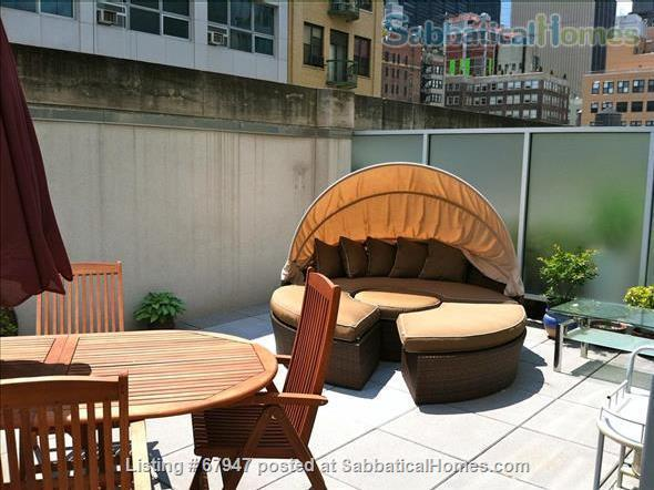 """MANHATTAN'S """"HOT"""" FINANCIAL DISTRICT: Large, quiet  modern1 bedroom apt with huge private terrace! Home Rental in New York, New York, United States 6"""