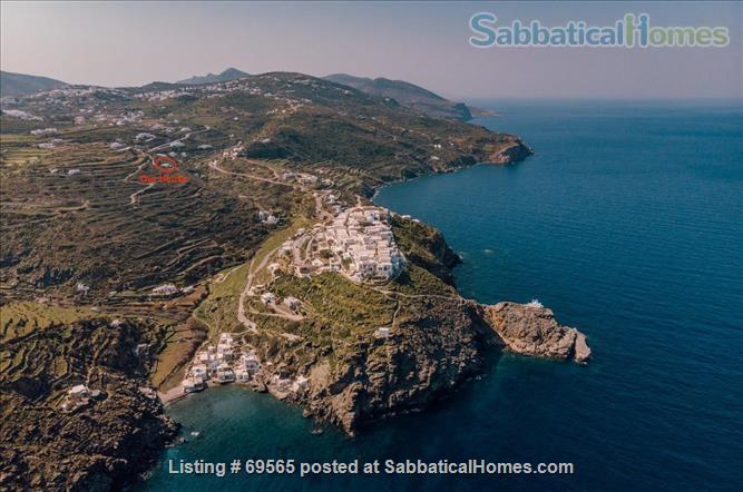Luxurious Villa on Sifnos, the Jewel of the Cycladic Islands Home Rental in Kastro, , Greece 0