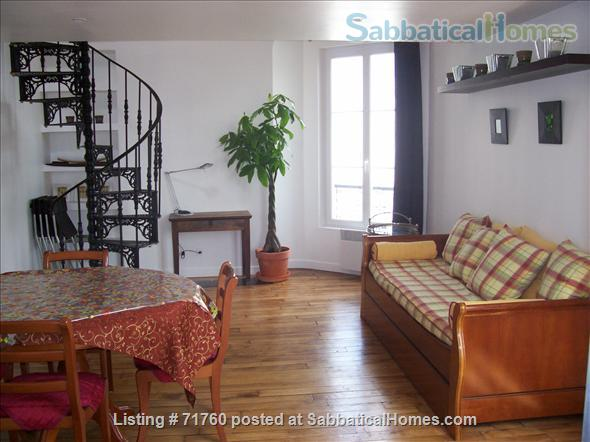 SUNNY & GEORGEOUS & QUIET DUPLEX  FURNISHED & ALL INCLUSIVE : 2 BEDROOMS  + 20M2 LIVING ROOM Home Rental in Paris, Île-de-France, France 1